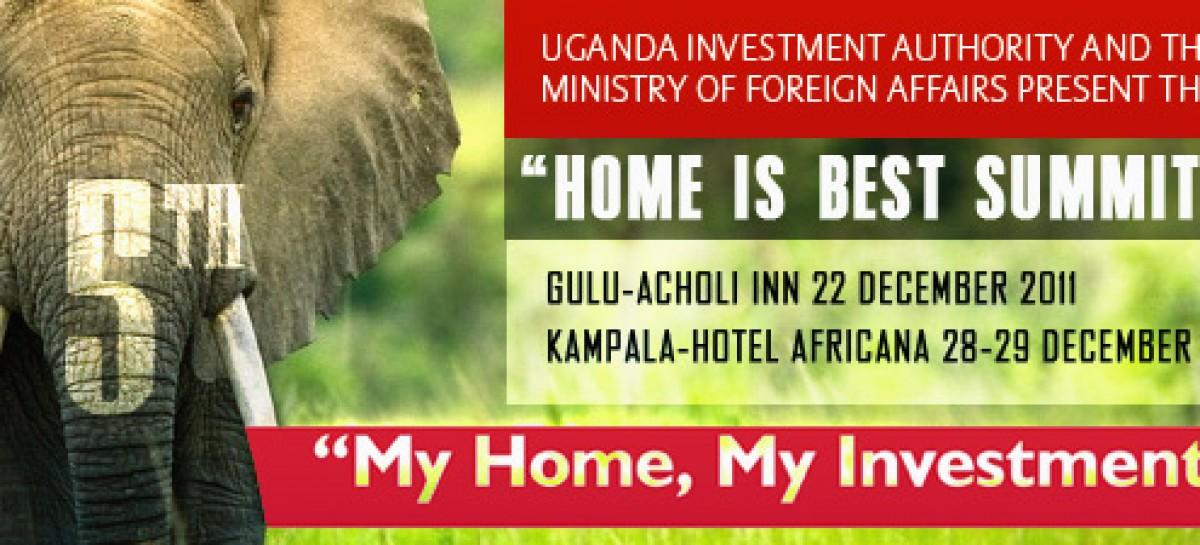 "SPONSOR/PARTNER UPDATES ~ Uganda Investment Authority (UIA) Invites you to 5th ""Home is Best"" Diaspora Summit, 2011"