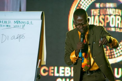 Comedian Teacher Mpamire will be returning this year to the Diaspora Gala